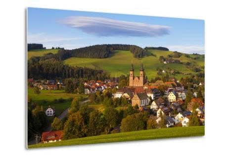 Overview of Saint Peter (Sankt Peter) at Sunset, Black Forest, Baden-Wurttemberg, Germany, Europe-Miles Ertman-Metal Print
