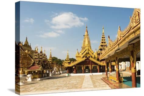 Shwezigon Pagoda, Bagan (Pagan), Myanmar (Burma), Asia-Jordan Banks-Stretched Canvas Print