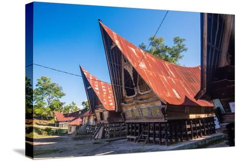 Traditional Batak House in Lake Toba, Sumatra, Indonesia, Southeast Asia-John Alexander-Stretched Canvas Print