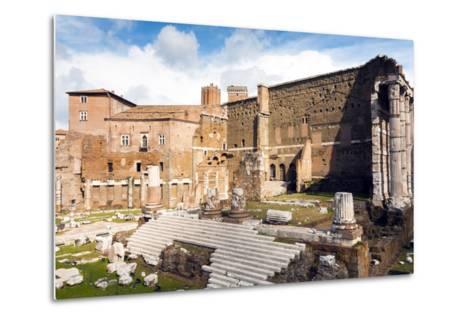 Remains of Forum of Augustus with the Temple of Mars Ultor, Rome, Latium, Italy, Europe-Nico Tondini-Metal Print