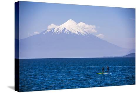 Paddleboarding on Llanquihue Lake-Matthew Williams-Ellis-Stretched Canvas Print