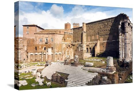Remains of Forum of Augustus with the Temple of Mars Ultor, Rome, Latium, Italy, Europe-Nico Tondini-Stretched Canvas Print