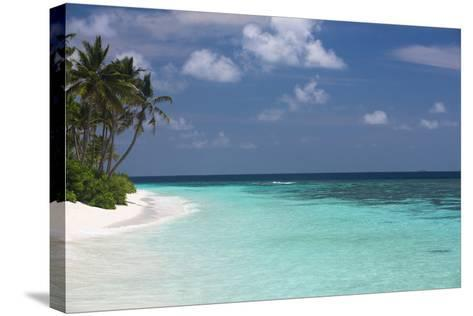 Tropical Island and Lagoon, Maldives, Indian Ocean, Asia-Sakis Papadopoulos-Stretched Canvas Print
