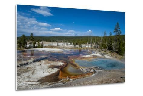 Firehole Spring, Yellowstone National Park, Wyoming, United States of America, North America-Michael DeFreitas-Metal Print