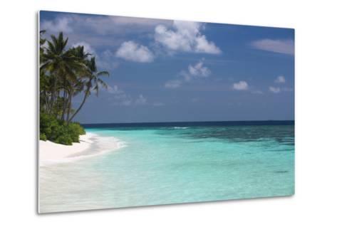 Tropical Island and Lagoon, Maldives, Indian Ocean, Asia-Sakis Papadopoulos-Metal Print