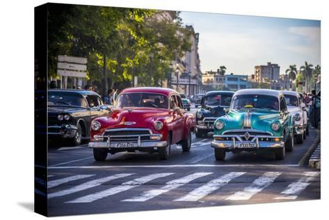 Classic 1950S American Cars, Cuba-Alan Copson-Stretched Canvas Print