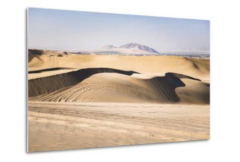 Sand Dunes in the Desert at Huacachina, Ica Region, Peru, South America-Matthew Williams-Ellis-Metal Print