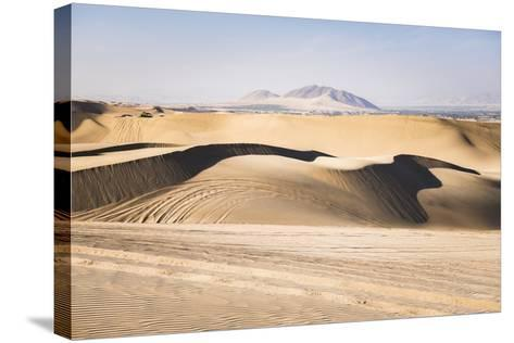 Sand Dunes in the Desert at Huacachina, Ica Region, Peru, South America-Matthew Williams-Ellis-Stretched Canvas Print