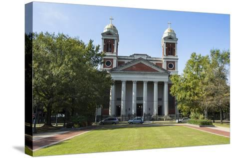 The Cathedral Basilica of the Immaculate Conception, Seat of the Archdiocese of Mobile, Alabama-Michael Runkel-Stretched Canvas Print