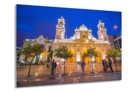 Salta Cathedral at Night, Argentina-Matthew Williams-Ellis-Metal Print