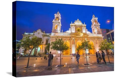 Salta Cathedral at Night, Argentina-Matthew Williams-Ellis-Stretched Canvas Print
