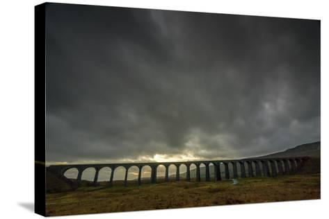 Ribblehead Viaduct, Sunset, Yorkshire Dales National Park, Yorkshire, England, United Kingdom-Bill Ward-Stretched Canvas Print