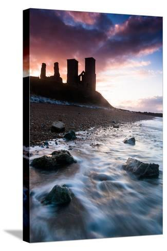 Sunset at Reculver Tower, Kent, England, United Kingdom, Europe-Bill Ward-Stretched Canvas Print