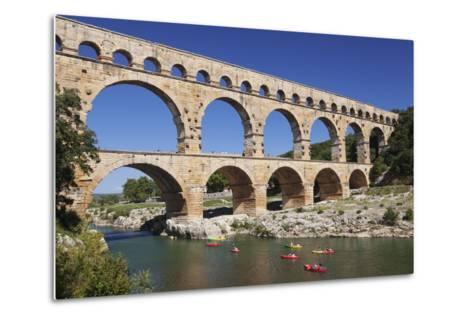 Pont Du Gard, Roman Aqueduct, River Gard, Languedoc-Roussillon, Southern France, France-Markus Lange-Metal Print
