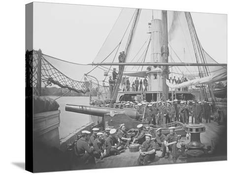 Gunboat Uss Mendota on James River During the American Civil War-Stocktrek Images-Stretched Canvas Print