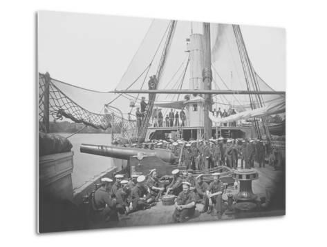 Gunboat Uss Mendota on James River During the American Civil War-Stocktrek Images-Metal Print