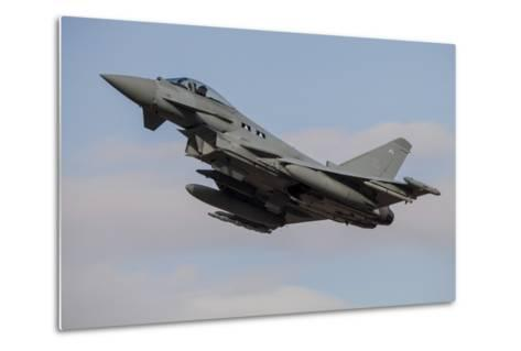A Royal Air Force Typhoon Fighter Jet Taking Off-Stocktrek Images-Metal Print