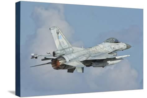 A Hellenic Air Force F-16 Taking Off-Stocktrek Images-Stretched Canvas Print
