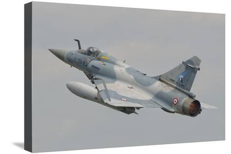 A French Air Force Mirage 2000C Taking Off-Stocktrek Images-Stretched Canvas Print
