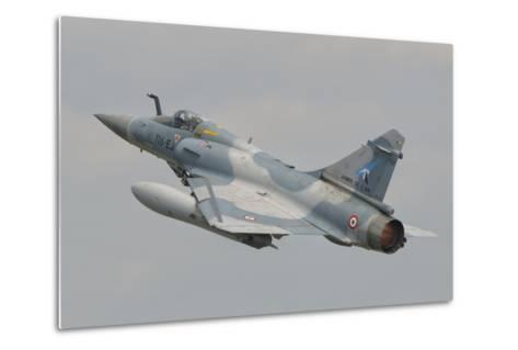 A French Air Force Mirage 2000C Taking Off-Stocktrek Images-Metal Print