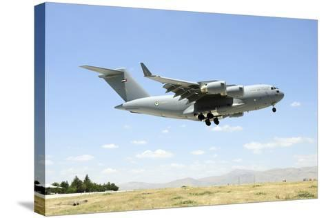 A United Arab Emirates Air Force C-17A Globemaster Iii Prepares for Landing-Stocktrek Images-Stretched Canvas Print