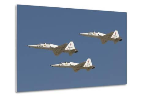 Formation of Turkish Air Force T-38A Talon's over Izmir, Turkey-Stocktrek Images-Metal Print