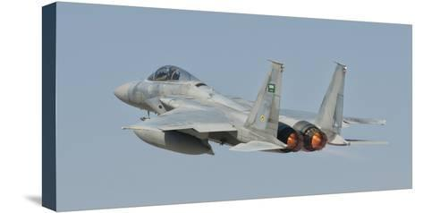 A Royal Saudi Air Force F-15 in Flight over Spain-Stocktrek Images-Stretched Canvas Print