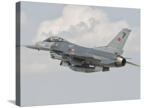 Turkish Air Force F-16 in Flight over Turkey-Stocktrek Images-Stretched Canvas Print