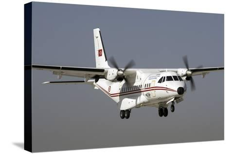 A Turkish Air Force Cn-235M-100 Prepares for Landing-Stocktrek Images-Stretched Canvas Print