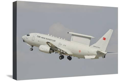 A Turkish Air Force Boeing 737 Aew Taking Off-Stocktrek Images-Stretched Canvas Print