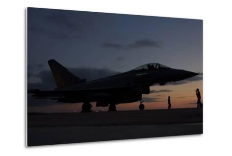 An Italian Air Force F-2000 Typhoon at Trapani Air Base, Italy-Stocktrek Images-Metal Print