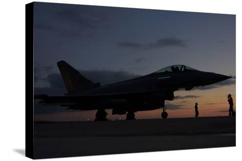 An Italian Air Force F-2000 Typhoon at Trapani Air Base, Italy-Stocktrek Images-Stretched Canvas Print