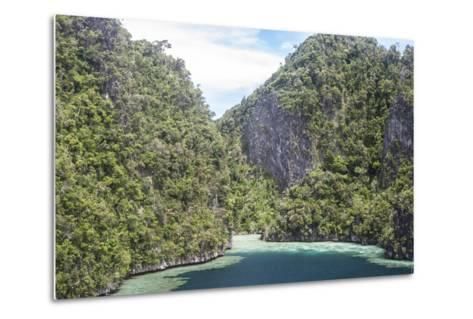 Rugged Limestone Islands Surround Corals Growing in a Gorgeous Lagoon-Stocktrek Images-Metal Print