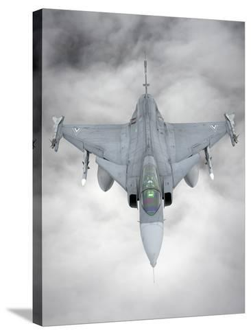 A Hungarian Air Force Jas-39 Gripen over Lithuania-Stocktrek Images-Stretched Canvas Print