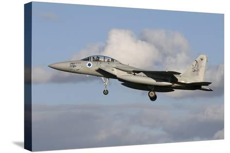 An Israeli Air Force F-15D Baz Prepares for Landing-Stocktrek Images-Stretched Canvas Print