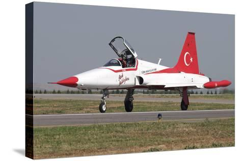 A Nf-5A of the The Turkish Stars Aerobatic Display Team-Stocktrek Images-Stretched Canvas Print