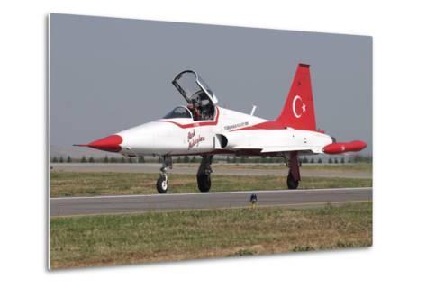 A Nf-5A of the The Turkish Stars Aerobatic Display Team-Stocktrek Images-Metal Print