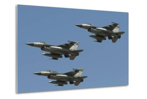 A Formation of Turkish Air Force F-16C/D Aircraft-Stocktrek Images-Metal Print