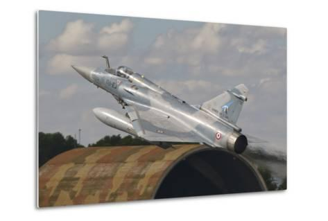 A French Air Force Mirage 2000C Taking Off in Spain-Stocktrek Images-Metal Print