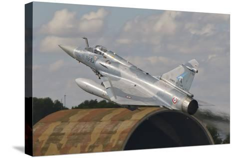 A French Air Force Mirage 2000C Taking Off in Spain-Stocktrek Images-Stretched Canvas Print