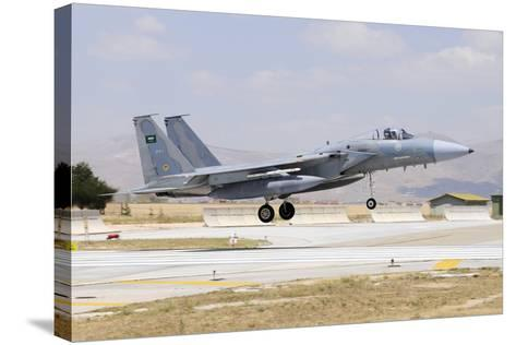 A Royal Saudi Air Force F-15C Eagle Landing on the Runway-Stocktrek Images-Stretched Canvas Print