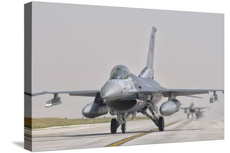 Turkish Air Force F-16 During Exercise Anatolian Eagle-Stocktrek Images-Stretched Canvas Print
