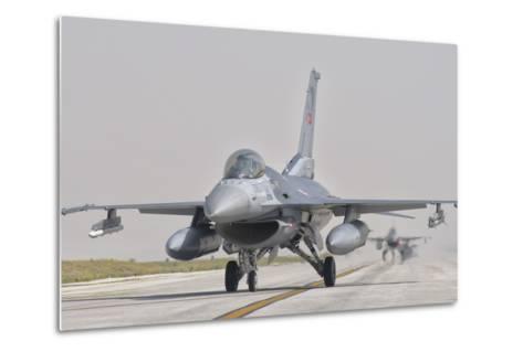 Turkish Air Force F-16 During Exercise Anatolian Eagle-Stocktrek Images-Metal Print