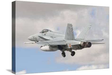 A Spanish Air Force F/A-18C During Tlp in Spain-Stocktrek Images-Stretched Canvas Print