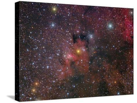 The Cave Nebula and Surroundings-Stocktrek Images-Stretched Canvas Print