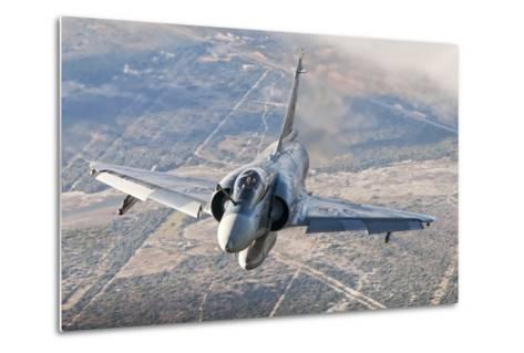 Brazilian Air Force Mirage 2000 Flying over Brazil-Stocktrek Images-Metal Print
