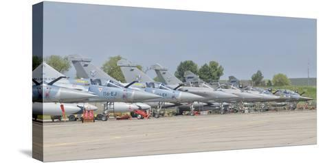 French Air Force and Royal Saudi Air Force Planes on the Flight Line-Stocktrek Images-Stretched Canvas Print