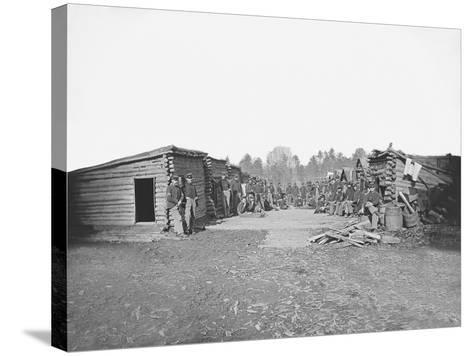Infantry Winter Quarters During the American Civil War-Stocktrek Images-Stretched Canvas Print