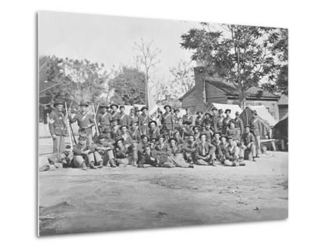 Group Photo of the 44th Indiana Infantry During the American Civil War-Stocktrek Images-Metal Print