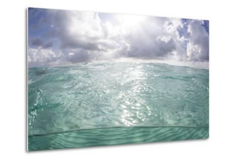 Sunlight Illuminates the Turquoise Water in Turneffe Atoll, Belize-Stocktrek Images-Metal Print